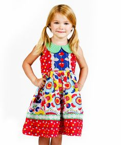 Look at this Red Picnic Mallory Dress - Infant, Toddler & Girls on #zulily today!