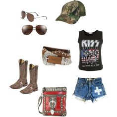 This is my lazy summer days!! Love me sone kiss and boots. Country girl/ Rock & Roll