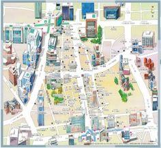 Myeong-dong, Seoul. Map.