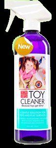 Toy Tips Toy Cleaner, food grade ingredients without alcohol or artificial cleaners. Use for toys, high chairs, strollers, car seats, anything your kid touches!