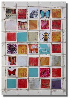 Magazine clipping collage board
