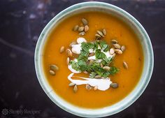 Spicy pumpkin soup with Southwestern flavors of chipotle, cumin ...