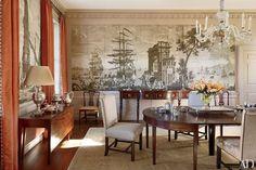 A Virginia dining room decorated by Amelia Handegan