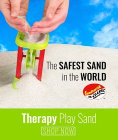 Clean, coarse Sandtastik® Therapy Play Sand for play therapy professionals, sand trays, sand & water tables, sensory activity tables and in-home or office applications. Sand, the boundless medium kids love getting their hands on! Watch as kids create a world full of wonder and meaning with play therapy toys while developing fine motor skills, intellect, visualization and social conduct. #sandtherapy #playtherapy #playtherapysand #coarsesand #therapysand #sandboxsand #safesand #sandtastik Play Therapy Activities, Sensory Activities, Activities For Kids, Sand And Water Table, Water Tables, Sensory Bins, Sensory Play, Activity Tables, Activity Ideas