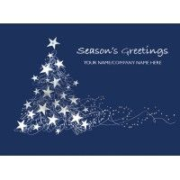 Christmas Card Greetings Business Sayings : Dazzling Star Tree Front Personalised Charity Christmas Card with your Compa Corporate Christmas Cards, Company Christmas Cards, Charity Christmas Cards, Modern Christmas Cards, Personalised Christmas Cards, Christmas Greeting Cards, List Of Charities, Holographic Foil, Card Companies