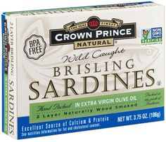 Crown Prince Natural Two Layer Brisling Sardines in Extra Virgin Olive Oil, 3.75-Ounce Cans (Pack of 12) * Hurry! Check out this great item : Quick dinner ideas