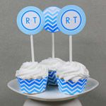 chevron cupcake wrappers and toppers