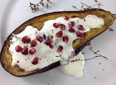 baklazan_granat Eggplant, Vegetable Pizza, Camembert Cheese, Pancakes, Omega 3, Vegetables, Breakfast, Recipes, Food Heaven