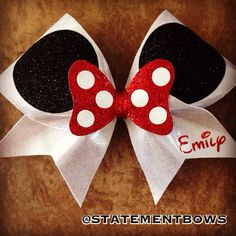 Disney's Minnie Mouse Inspired Cheer Bow by StatementBows on Etsy