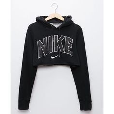 There are 2 tips to buy this jumpsuit: sweater nike crop nike black black sweater cropped sweater cropped hoodie nike sweater nike crop top black hoodie. Teen Fashion Outfits, Nike Outfits, Casual Outfits, Fitness Outfits, Casual Shoes, Nike Cropped Hoodie, Black Hoodie, Cropped Sweater, Adidas Crop Sweater