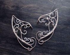 Elven ears (a pair). Earcuffs, Elf ears, cosplay fantasy decoration for ears elven ear ear cuff elvish earring elf ear Small Gold Hoop Earrings, Black Diamond Earrings, Aquamarine Earrings, Tiny Stud Earrings, Crystal Earrings, Drop Earrings, Elf Ear Cuff, Ear Cuffs, Elf Ears