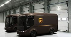UPS is working with vehicle manufacturer Arrival on a pilot fleet of 35 lightweight electric trucks that look far more futuristic than standard boxy vehicles. Ups Delivery, Mail Delivery, Electric Truck, Van Design, Cars Series, Futuristic Cars, Futuristic Vehicles, Transporter, Digital Trends