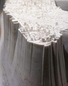 Little Manhattan 01 / (2007 – 09). stunning marble sculpture by Yutaka Sone. images courtesy David Zwirner. via Spoon & Tamago #nyc #maps