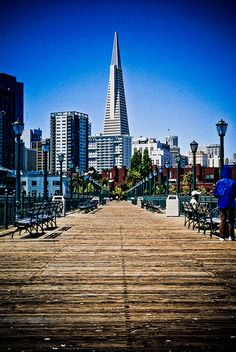 A view of the Transamerica Pyramid from Pier 7 in San Francisco via flickr