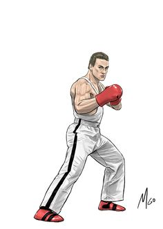 Page 01 of Assorted JCVD illustrated characters from many of his iconic, legendary movies by Marten Go. Dbz, Claude Van Damme, Asian Wallpaper, Boxing History, Fighting Poses, Desenho Tattoo, Pop Culture Art, Movie Poster Art, Street Fighter