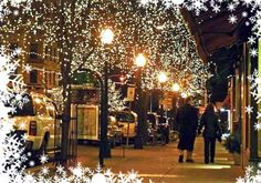 Downtown Bloomington, Indiana. I would LOVE to see this at Christmastime!