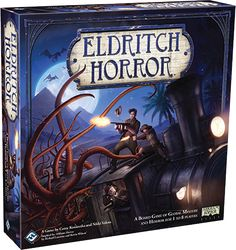 Eldritch Horror - fighting Cthulhu all over the world.  http://www.starlitcitadel.com/games/eldritch-horror.html