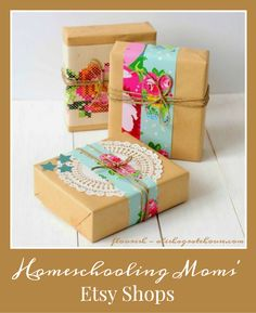 I want to support Homeschooling Moms and their small businesses? Here's a terrific list of homeschooling-moms-etsy-shops, plus discounts and giveaways for each shop.