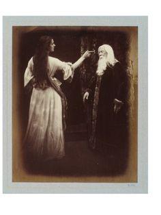Julia Margaret Cameron, Vivien and Merlin - Illustrations to Tennyson's Idylls of the King. #photography #art #kunst