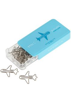 My stationery cupboard needs these sweet little plane paperclips!
