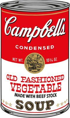 Andy Warhol - Campbell's soup cans II (1969). Arte pop. Serigrafía en papel de 88,9 × 58,4 cm. Museo de Arte Contemporáneo (Chicago), EE.UU