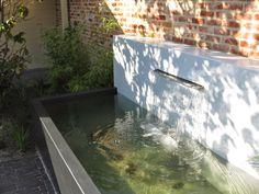 Aluminium ponds made by Potmaat The Netherlands. Water Element, Decoration Design, Netherlands, Fountain, Aquarium, Planters, Outdoor Decor, Ponds, Tub
