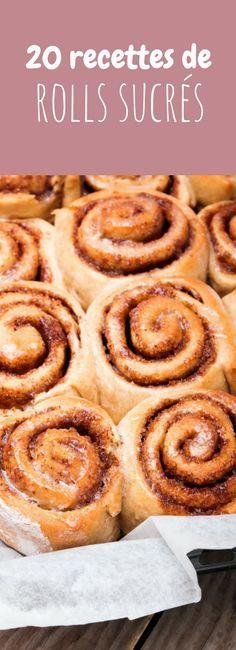 Cinnamon rolls, raspberries rolls... 20 recettes faciles de rolls sucrés !