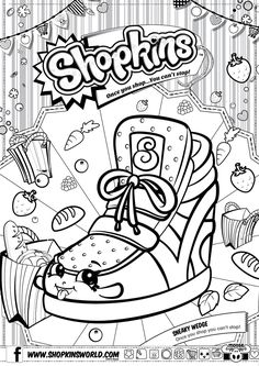 Shopkinsworld Files 104032M R00s01 SPKS2 A4 COLOUR IN SNEAKY20WEDGE FAOL 01 Kids ColouringColoring Pages9th BirthdayGirl