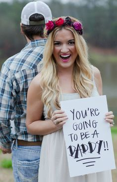A great idea for sharing the big news with your partner.