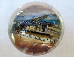 Antique Victorian Souvenir Glass Paperweight   by rupertandtoby