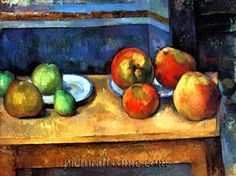 Paul Cezanne Still Life With Apples And Pears, Ca. Oil Painting Reproductions for sale Painting Still Life, Still Life Art, Juan Sanchez Cotan, Cezanne Still Life, Paul Cezanne Paintings, Still Life With Apples, Oil Painting Reproductions, Matisse, French Artists