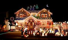 House Christmas Lights | light outside ideas some images include the griswold house a light ...