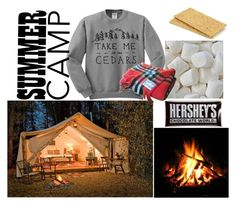 """Summer Camp"" by eyoung344 ❤ liked on Polyvore featuring interior, interiors, interior design, home, home decor, interior decorating, Hershey's and glamping"