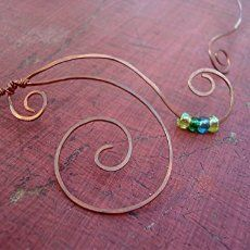 Amazon.com: Copper Wire Wrapped Pendant and Earrings: Handmade  Sandan Metals creates original handcrafted #JEWELRY while promoting an awareness and understanding of #NARCOLEPSY and #CATAPLEXY, with which the creator struggles.