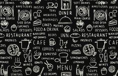 Tekst behang - Restaurant teksten - Keuken