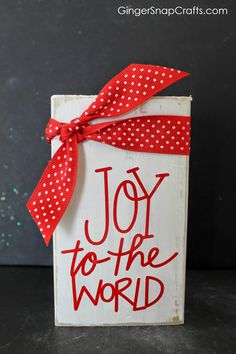 Ginger Snap Crafts: Joy to the World Block {tutorial}