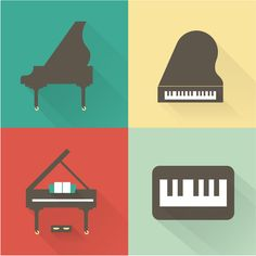 Flat Icons by Irina Kerasoshvili, via Behance