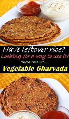 Have Leftover rice and thinking of what to do???? No one wants to eat day old rice on its own. There are so many recipes from the leftover rice like dudhi muthia, cabbage muthiya, fried rice, Vegetable Gharvada and so on.