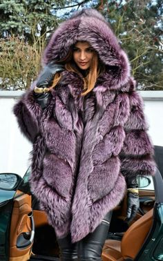 Violet Royal Saga Silver Fake Fur Poncho and Fake Sable Mink Chinchilla Coat Jacket Chinchilla Coat, Long Fur Coat, Coats For Women, Clothes For Women, Fabulous Furs, Blazers, Vintage Fur, Fur Fashion, Fox Fur