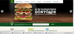 The main page of the website is full with different promotions of McDonald's in Hungarian week.