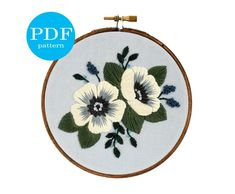 hand stitched embroidery made with love. by floralsandfloss Embroidery Boutique, Floral Embroidery Patterns, Hand Embroidery Stitches, Hand Embroidery Designs, Embroidery Kits, Flower Embroidery, Machine Embroidery, Pattern Floral, Pattern Art