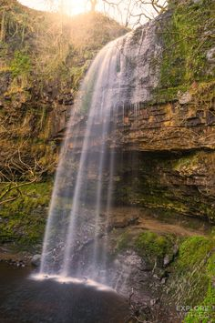 Used as the entrance to The Bat Cave in Dark Night Rises, the mysterious Henrhyd Falls is the highest in South Wales Beautiful Places To Visit, Cool Places To Visit, Places To Travel, Amazing Places, Wales Uk, South Wales, Wales Holiday, Visit Wales, Brecon Beacons