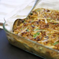 Featuring fresh green beans and caramelized onions, this homemade green bean casserole is just about as clean as it gets. Perfect for thanksgiving!