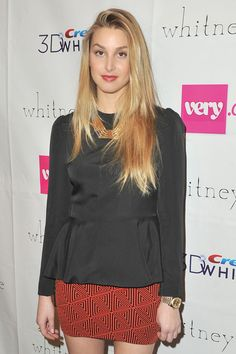 whitney port style | Whitney Port Pictures - Whitney Eve - Backstage - Fall 2012 Mercedes ...