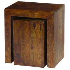 Debenhams Mango wood nest of 2 tables | Debenhams