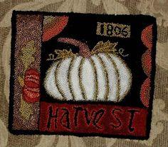 pumpkin mat....punch needle
