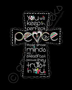 Scripture Art Keep In Perfect Peace Christian art by amyleeweeks, $10.00