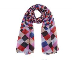 Red Check Scarf - with this one you'll pass the finishing post first every time!