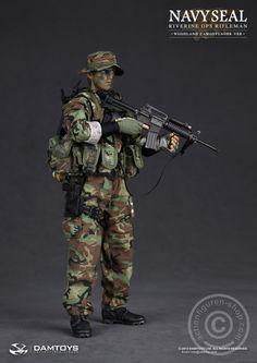www.actionfiguren-shop.com | Navy Seal Riverine OPS Rifleman - Woodland | Online 1:6 Figuren und Zubehör kaufen