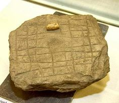 The Viking Hnefatafl gaming board found on the Brough of Deerness.